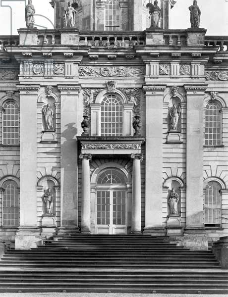 The north front, Castle Howard, from 'The English Country House' (b/w photo)
