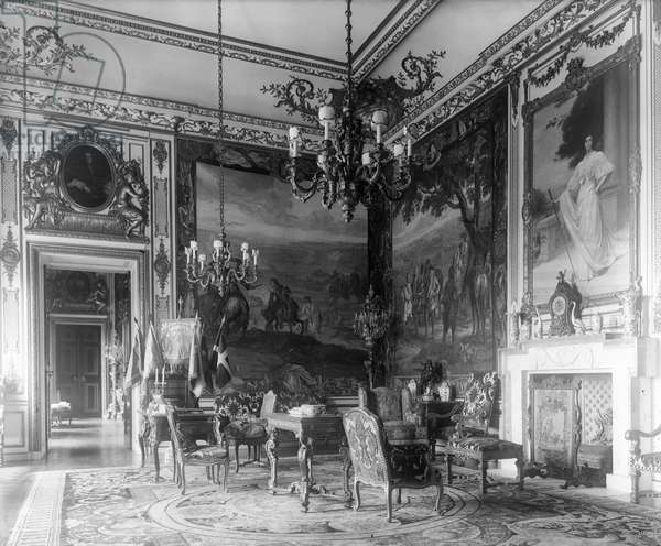 The first state room at Blenheim Palace, Oxfordshire, from 'The Country Houses of Sir John Vanbrugh' by Jeremy Musson, published 2008 (b/w photo)
