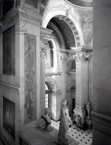 The Great Hall, Castle Howard, North Yorkshire, from 'The Country Houses of Sir John Vanbrugh' by Jeremy Musson, published 2008 (b/w photo)