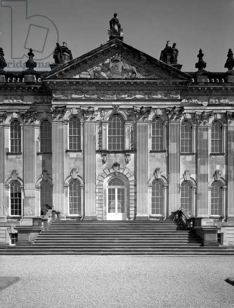 The central section of the south front, Castle Howard, North Yorkshire, from 'The Country Houses of Sir John Vanbrugh' by Jeremy Musson, published 2008 (b/w photo)