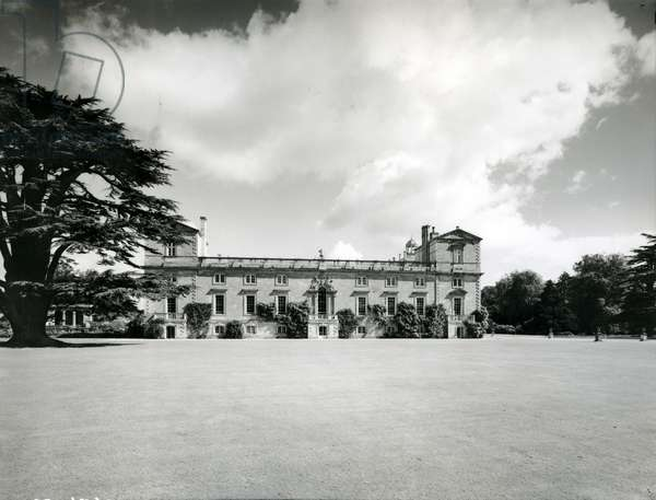 The south front of Wilton House, from '100 Favourite Houses' (b/w photo)