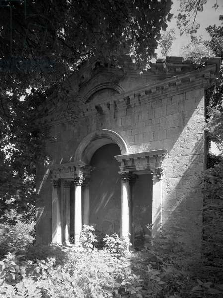 The loggia at Kings Weston House, Bristol, from 'The Country Houses of Sir John Vanbrugh' by Jeremy Musson, published 2008 (b/w photo)