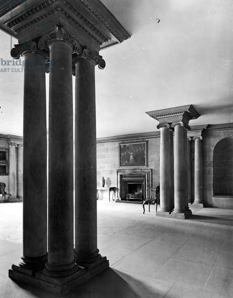 The undercroft hall, Castle Howard, North Yorkshire, from 'The English Country House' (b/w photo)