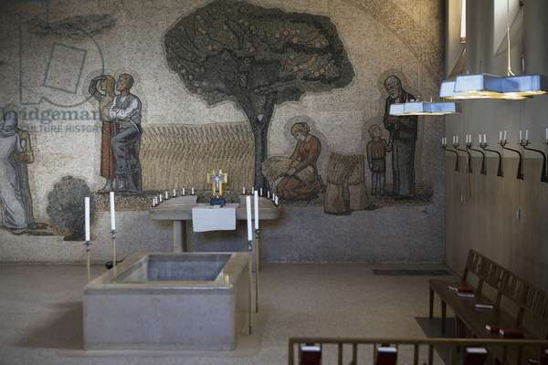 Chapel of Hope, mosaic and general view (photo)