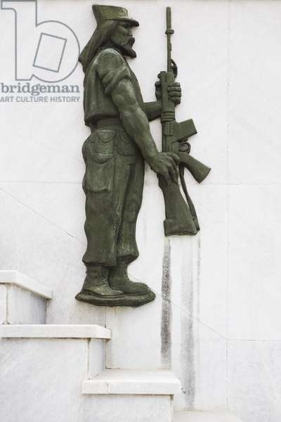 Monument to Armed Forces, detail (marble and bronze)