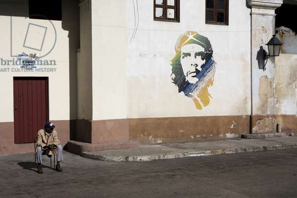 Che Guevara wall portrait, Havana, Cuba (photo)