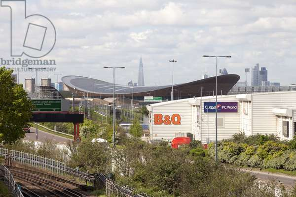 View of the London Velopark, designed by Hopkins Architects, London, UK (photo)