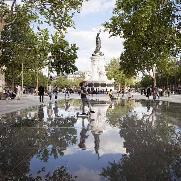 View of Place de la Republique, Paris, France (photo)