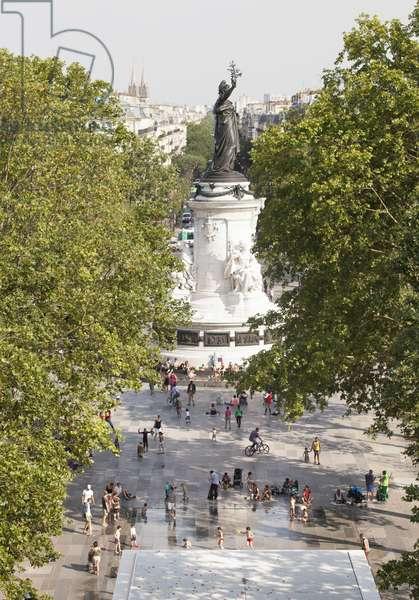 View of the Place de la Republique, Paris, France (photo)