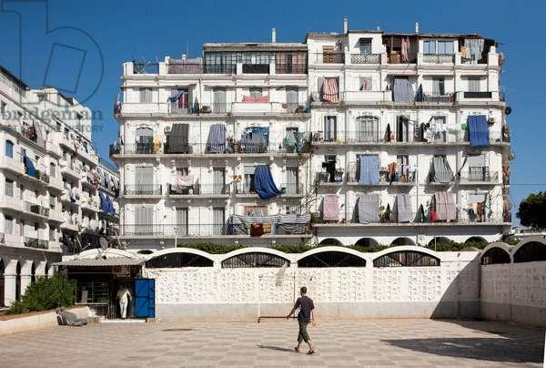 Haussmann building in Algiers, Algeria (photo)