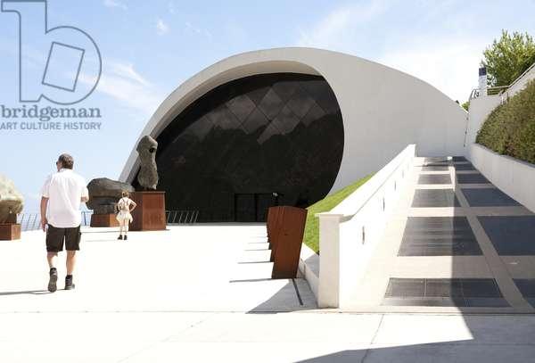 View of Auditorium Oscar Niemeyer, Ravello, Salerno, Italy (photo)