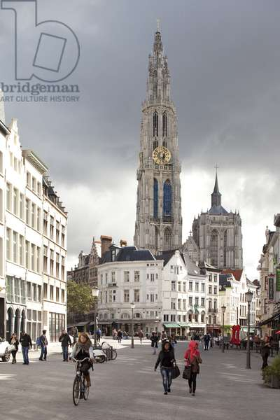 View of Notre-Dame Cathedral, Antwerp, Belgium (photo)