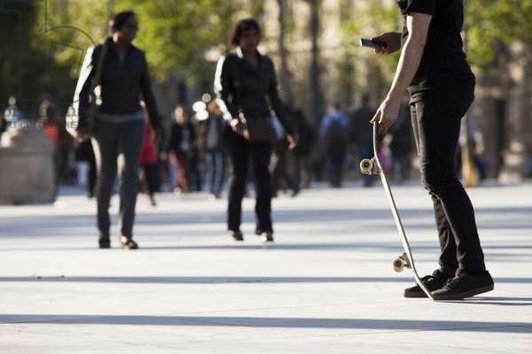 Skater at Place de la Republique, Paris, France (photo)