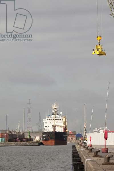 View of Antwerp harbour, Belgium (photo)