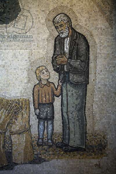 Chapel of Hope, aborned wall, detail (mosaic)