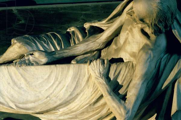 Mausoleum of Lieutenant General Henry Claude d'Harcourt (d.1711), detail of the cadaver (see also 252637 and 252639), 1771-76 (marble)