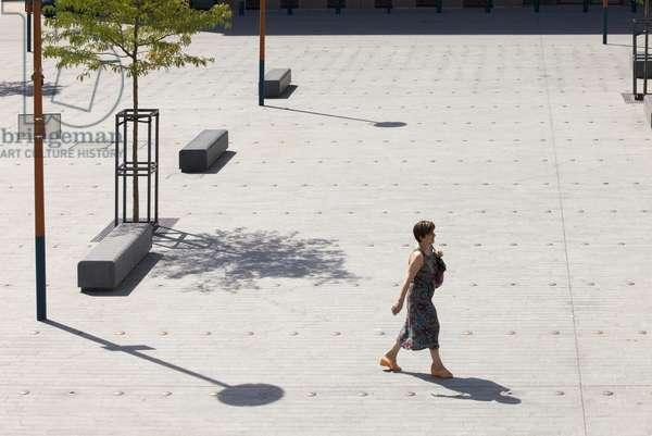 View of Place du Marché-Saint-Honoré, Pantin, Seine-Saint-Denis, Paris, France (photo)
