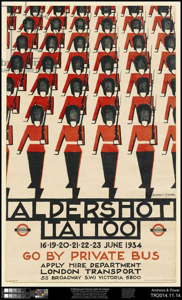 Aldershot Tattoo, 1934 (colour litho.)