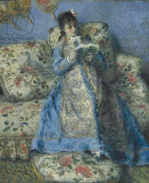Portrait of Madame Monet (Madame Claude Monet Reading), c.1874 (oil on canvas)
