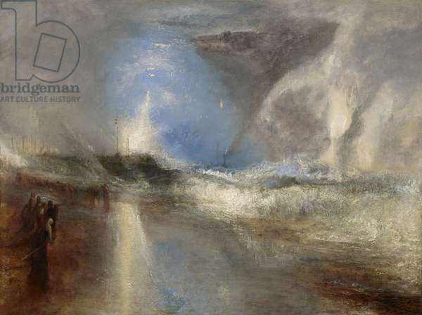 Rockets and Blue Lights (Close at Hand) to Warn Steamboats of Shoal Water, 1840 (oil on canvas)
