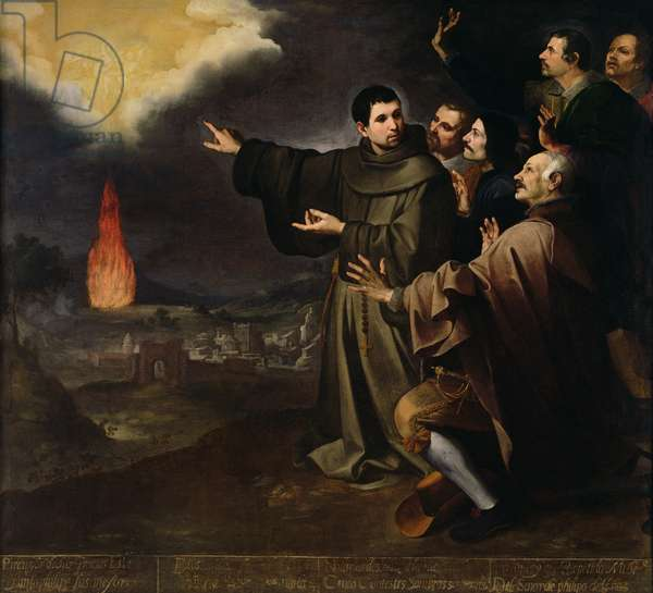 Fray Julian of Alcala's Vision of the Ascension of the Soul of King Philip II of Spain, 1645-46 (oil on canvas)