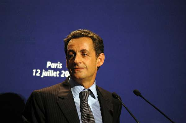 """Paris, UMP headquarters, July 12, 2006: Speech by Nicolas Sarkozy (Minister of the Insertor and President of the UMP) at the Convention """""""" Overseas Sea: Free Energy""""""""."""
