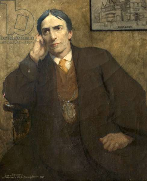 Posthumous Portrait of Sir Hubert von Herkomer, 1942 (oil on canvas)