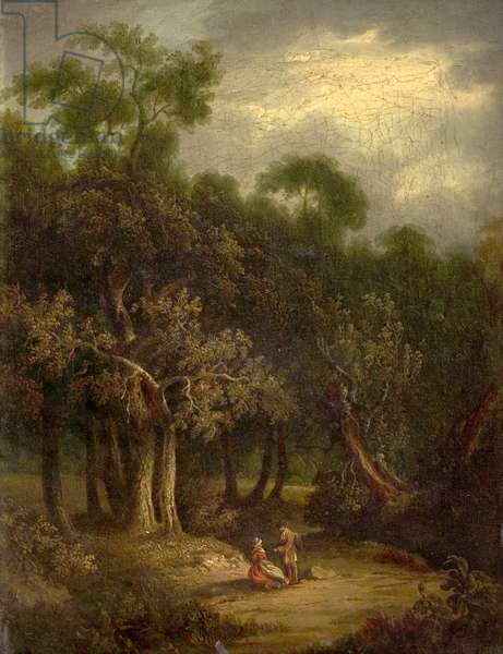 Lad's Lane, Boy's Hill, Cheltenham (oil on canvas)