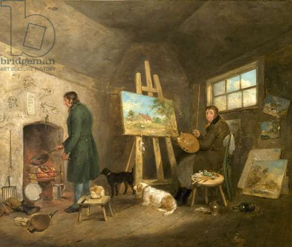 The Artist in His Studio and His Man Gibbs, 1802 (oil on canvas)