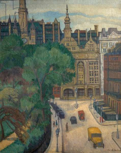 Imperial Hotel, Russell Square, London (oil on canvas)