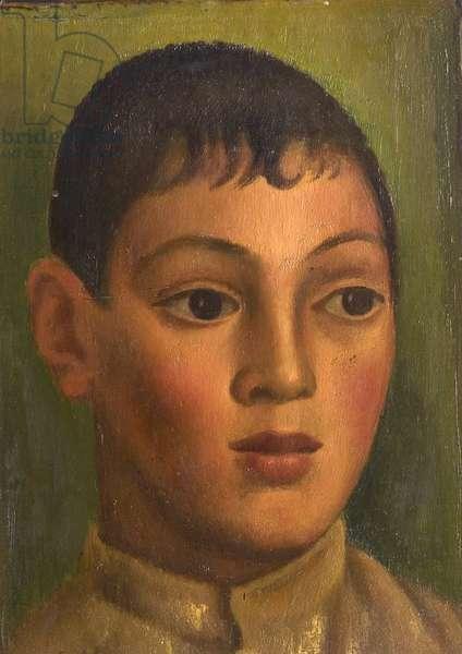 Head of a Boy, 1922 (oil on wood)