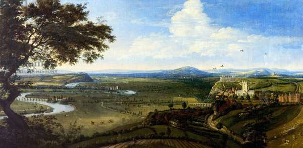 View of Nottingham from the East, c.1695 (oil on canvas)