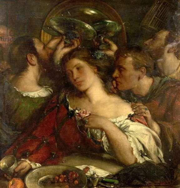 Tibullus in the House of Delia, 1900-05 (oil on canvas)