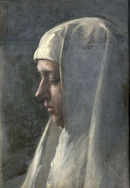 Head of a Woman in Profile, 1900-42 (oil on canvas)