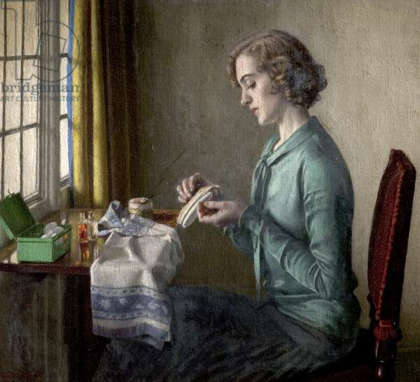 The Manicure, 1933 (oil on canvas)