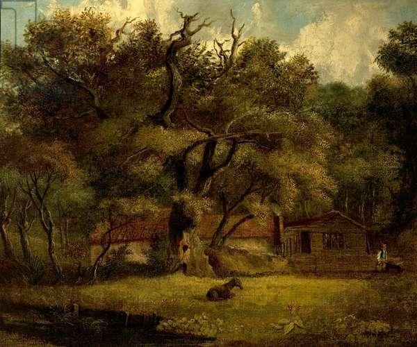 The Homestead (oil on canvas)