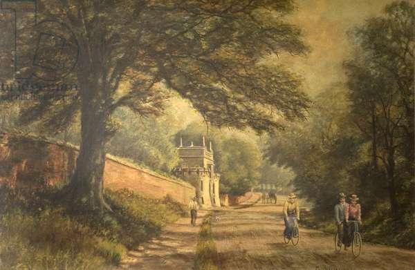 The Lodge, Wollaton Park, Nottingham (oil on canvas)