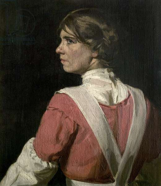 Miss Wish Wynne in the Character of Janet Cannot for the Play 'The Great Adventurer', 1913 (oil on canvas)
