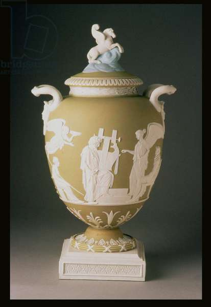 Pegasus Vase, made by Wedgwood, c. 1785 (jasper quartz)