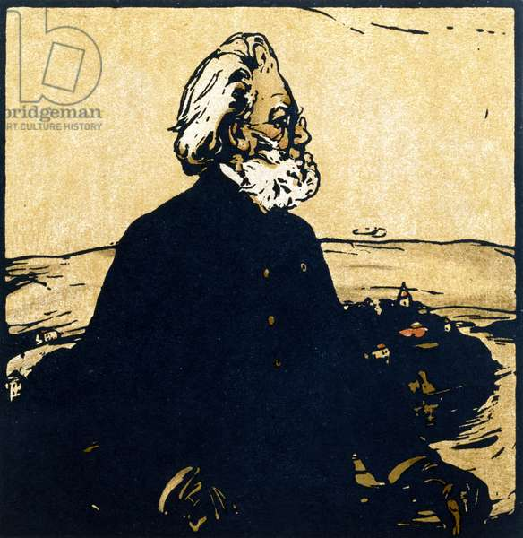 Henrik Ibsen, from 'Twelve Portraits - Second Series', first published by William Heinemann, 1902 (colour litho)