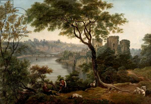 Chepstow Castle, Monmouthshire (oil on canvas)