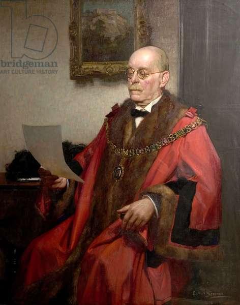 Posthumus Portrait of Alderman E.L. Manning, 1937 (oil on canvas)