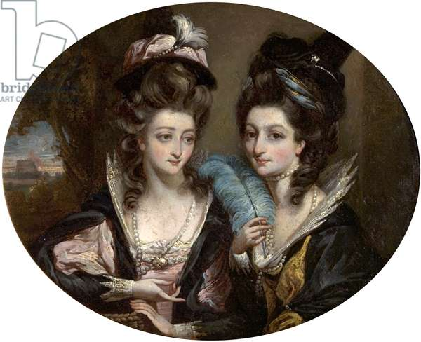 Mrs Gwynne and Mrs Bunbury as the Merry Wives of Windsor, c.1779 (oil on wood)