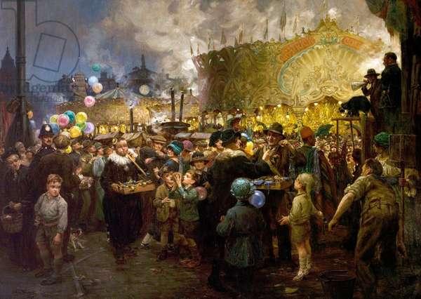 The Goose Fair, Nottingham, 1926 (oil on canvas)