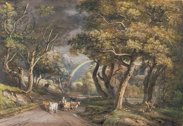 The Rainbow (gouache on paper)