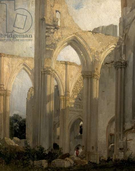 Ruins of the Abbey St Bertain, St Omer, France, 1824 (oil on canvas)