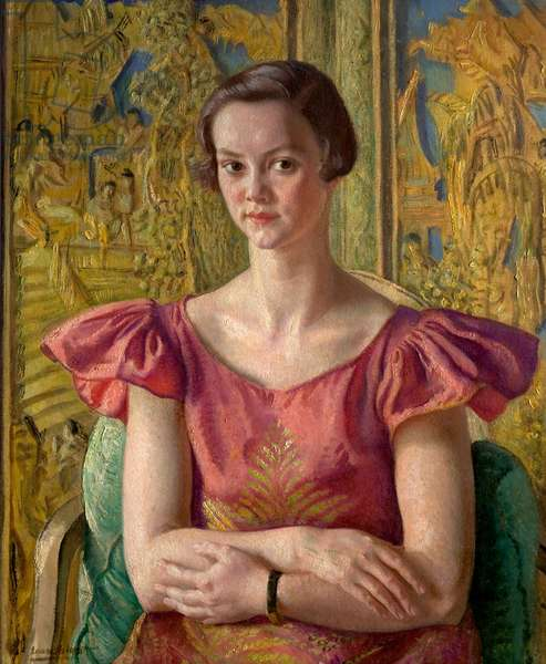 Patricia, daughter J. Todd Thompson, 1932 (oil on board)