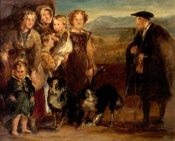 A Highland Family, 1823 (oil on wood)