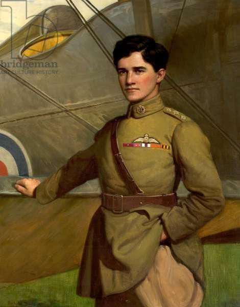 Captain Albert Ball, 1921 (oil on canvas)