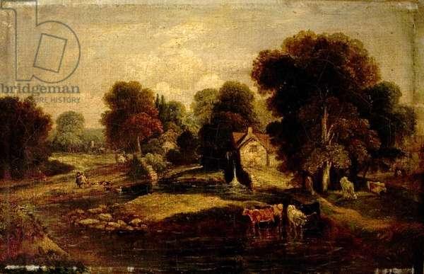 Old Mill, Norwich, Norfolk (oil on canvas)